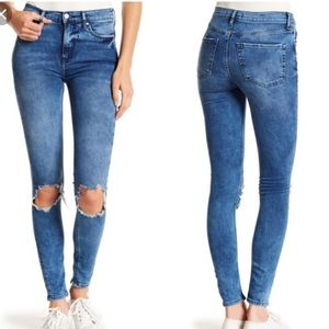Free people high waisted busted knee jeans size 25